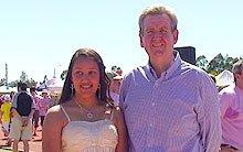 NSW Premier Barry O'Farrell congratulates Maria Binny