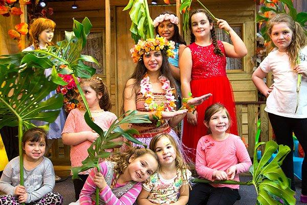 moana island themed party oz funland
