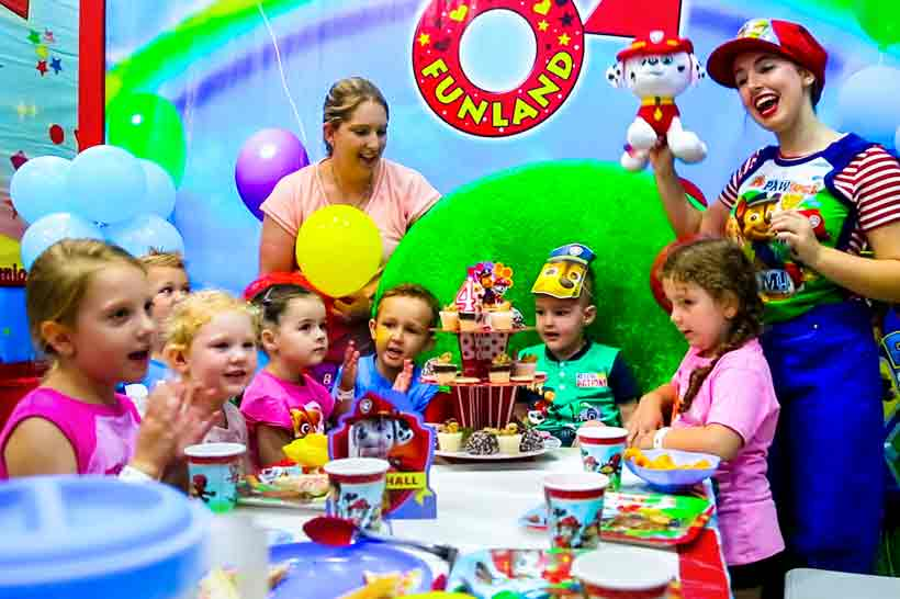 Kids Party Oz Funland Balloon Room