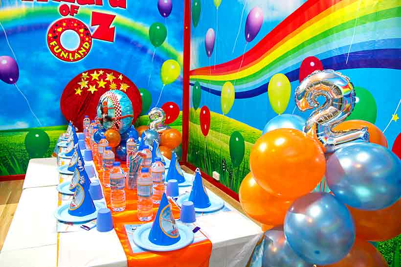 kids birthday party venue Oz Funland Balloon Room