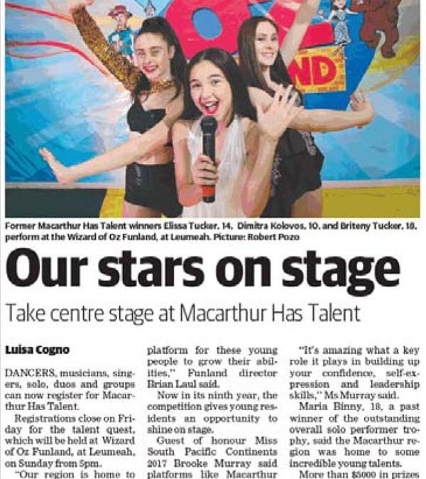 Our stars on stage (Macarthur Chronicle 10-10-2017)