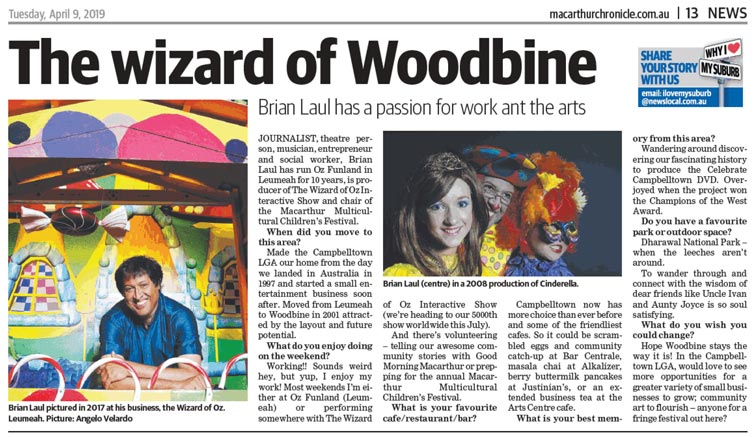 The Wizard of Woodbine (Macarthur Chronicle 9-4-2019)